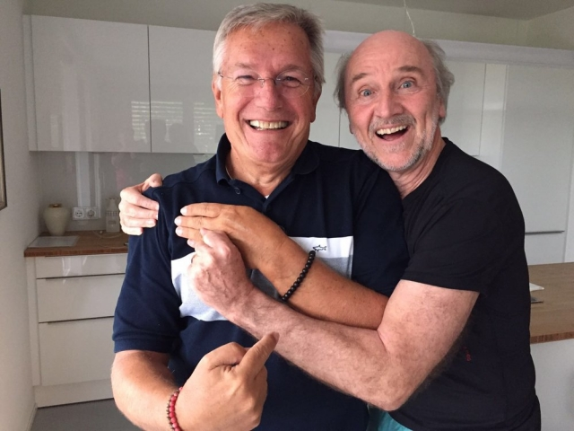With my best friend, Hans Donner, Rede Globo